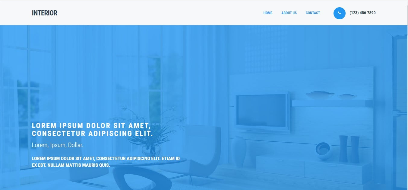 INTERIOR - 56+ Best Free Architecture HTML Website Templates [year]