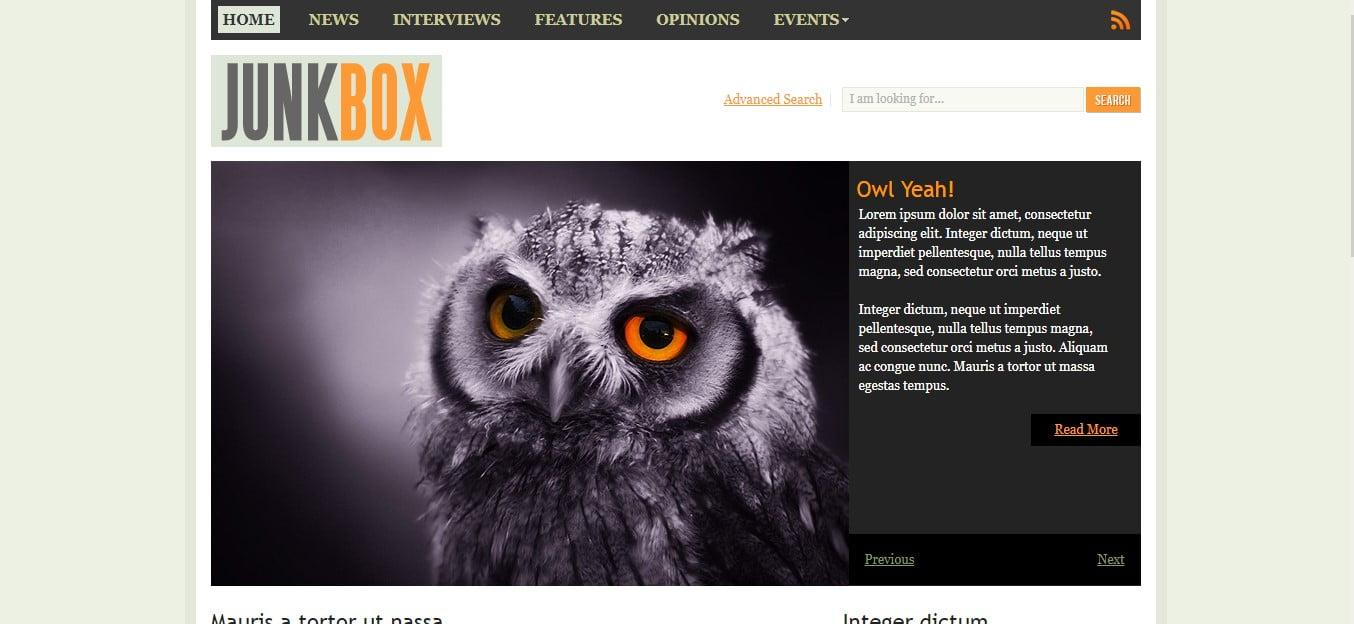 JUNKBOX - 56+ Best Free Animals & Pets HTML Website Templates