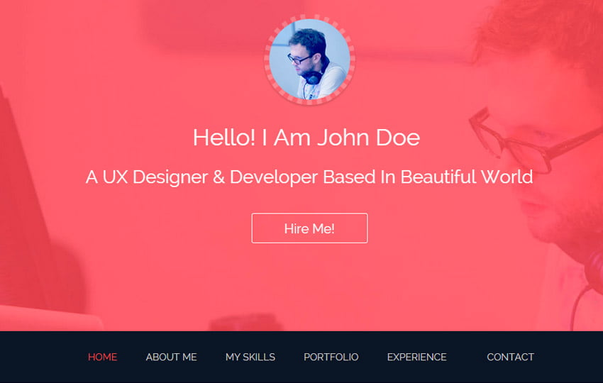 John-Bootstrap-One-Page-HTML5-Free-Resume-Template - 57+ Best Free Education HTML Website Templates