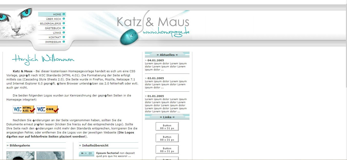 KATZ-MAUS-FREE-CSS-TEMPLATE - 56+ Best Free Animals & Pets HTML Website Templates