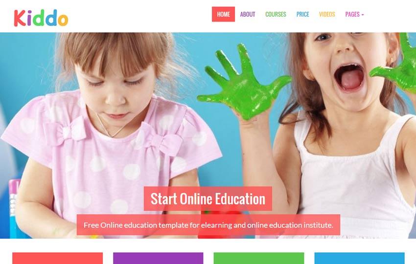 Kiddo-Educational-School-Bootstrap-Free-Web-Template - 57+ Best Free Education HTML Website Templates