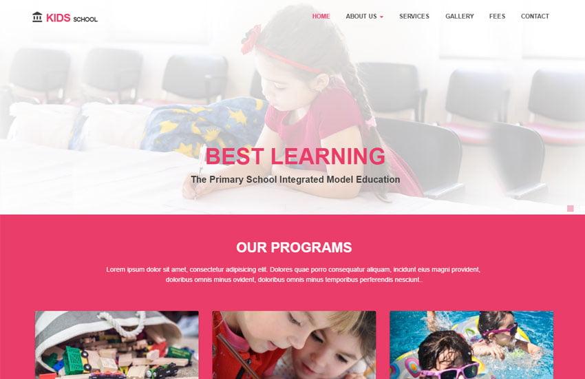 Kids-primary-school - 57+ Best Free Education HTML Website Templates