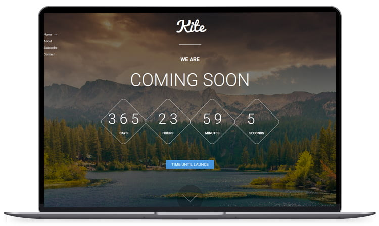 Kite-Coming-Soon-Bootstrap-Free-Theme - 62+ Best Free HTML5 Website Templates [year]