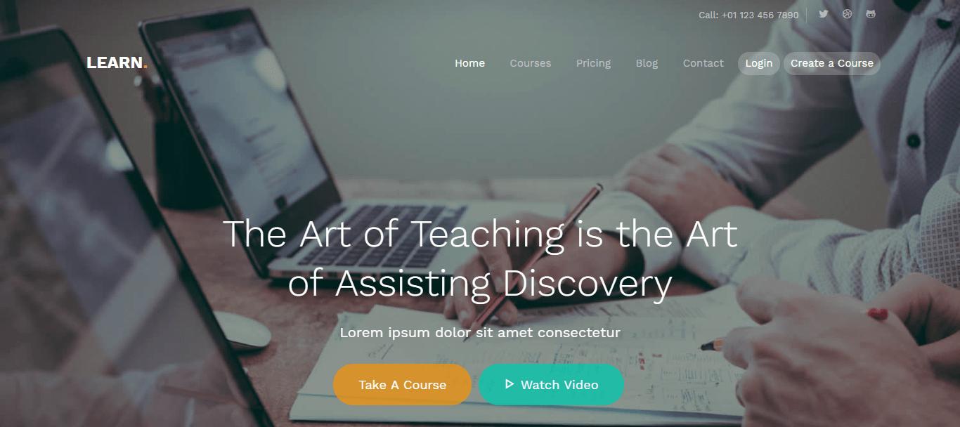 LEARN - 57+ Best Free Education HTML Website Templates