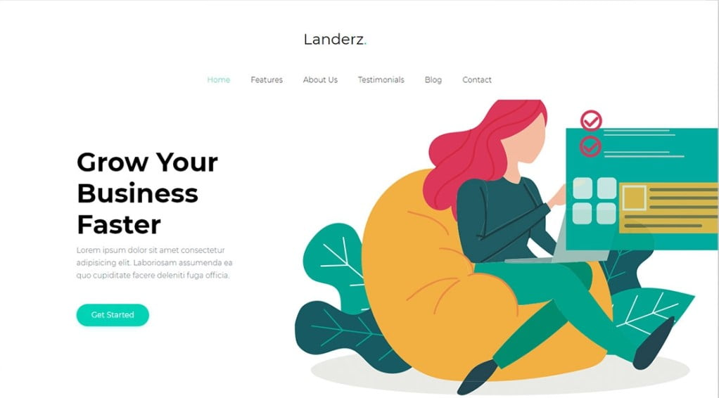 Landerz - 57+ Best Free Digital Agency HTML Website Templates [year]