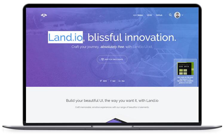 Landio - 62+ Best Free HTML5 Website Templates [year]