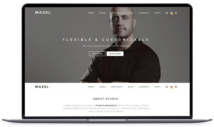 Mazel-Responsive-Multipurpose-Template - 62+ Best Free HTML5 Website Templates [year]