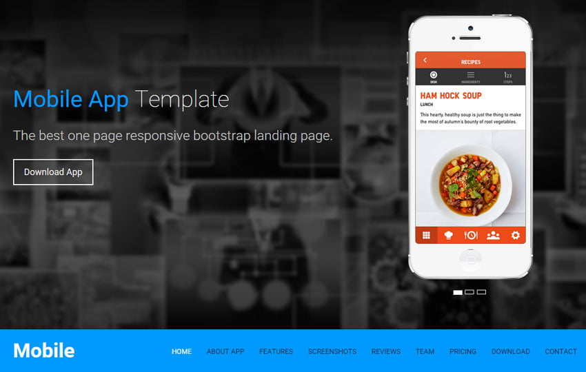Mobile-App-free-One-Page-Responsive-HTML5-Landing-Page - 56+ Best Free App Landing Page HTML Website Templates