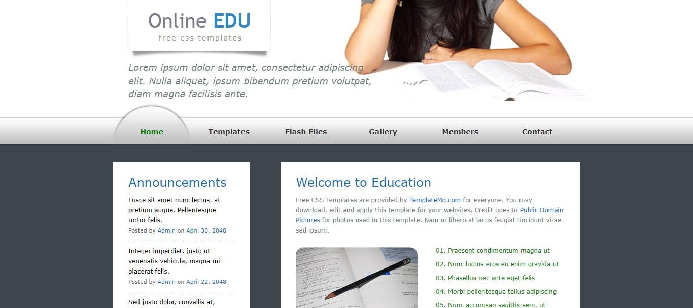 ONLINE-EDU - 57+ Best Free Education HTML Website Templates