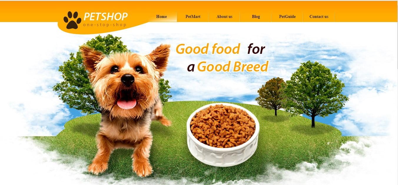 PET-SHOP - 56+ Best Free Animals & Pets HTML Website Templates