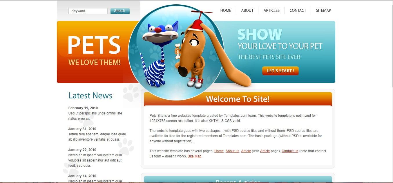PETS - 56+ Best Free Animals & Pets HTML Website Templates