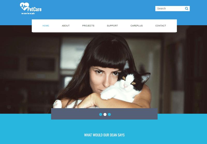 Pet-Care-1 - 56+ Best Free Animals & Pets HTML Website Templates