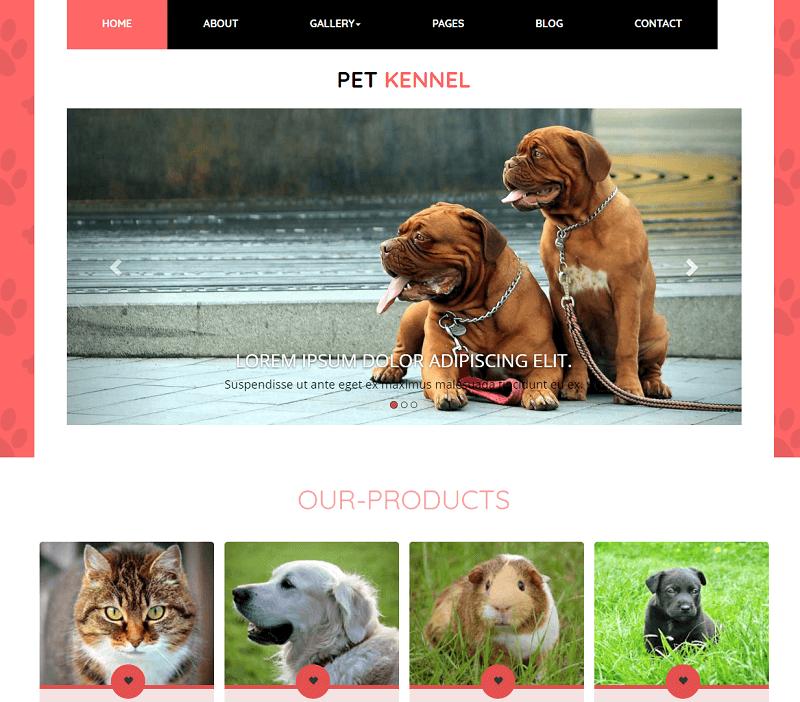 Pet-Kennel-1 - 56+ Best Free Animals & Pets HTML Website Templates