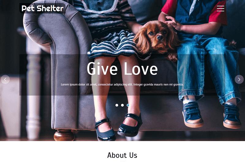 Pet-Shelter-1 - 56+ Best Free Animals & Pets HTML Website Templates