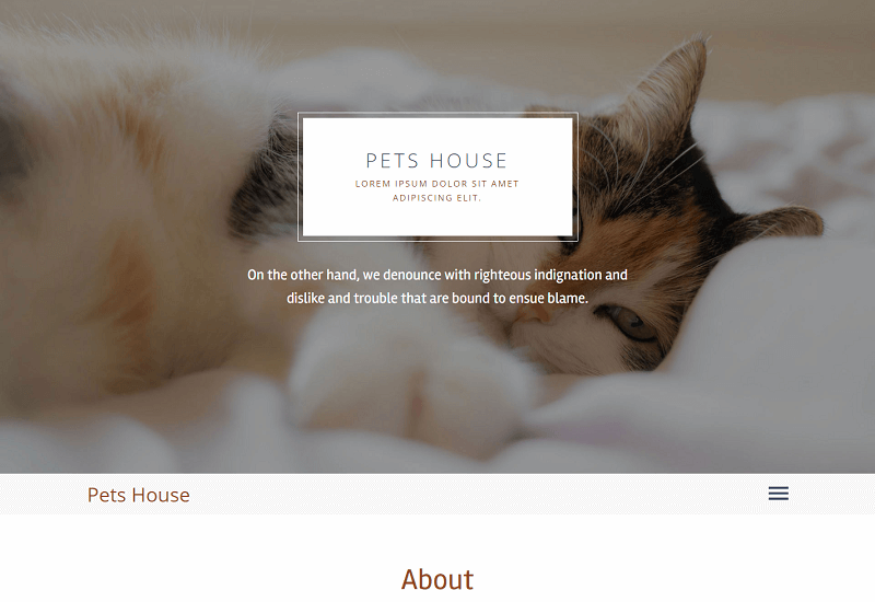 Pets-House-1 - 56+ Best Free Animals & Pets HTML Website Templates