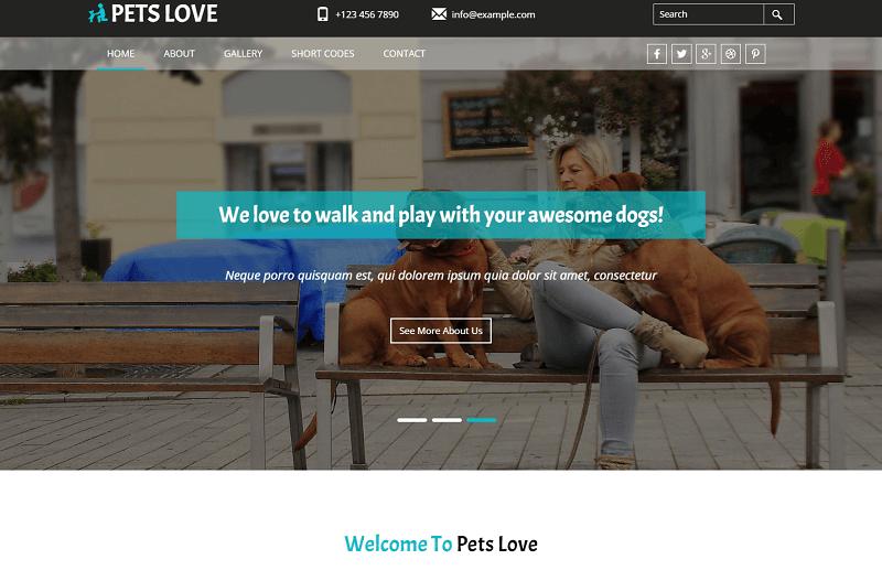 Pets-Love-1 - 56+ Best Free Animals & Pets HTML Website Templates