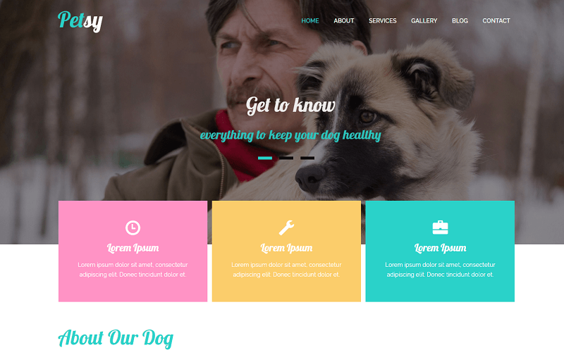 Petsy-1 - 56+ Best Free Animals & Pets HTML Website Templates