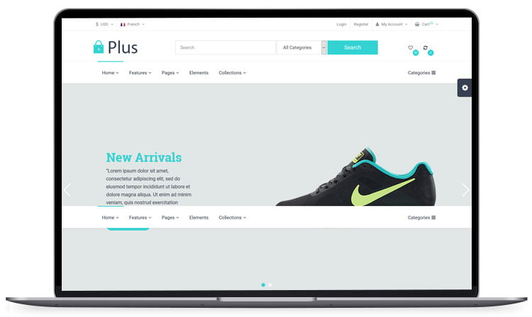Plus-Responsive-E-Commerce-Template - 62+ Best Free HTML5 Website Templates [year]
