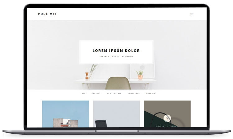 Pure-Mix - 62+ Best Free HTML5 Website Templates [year]