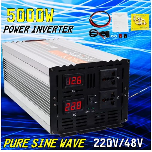Pure-Sine-Wave-Inverter-Dual-LED-Display-5000W-Power-Inverter - Top 25+ Best Power Inverters for Your Car [year]