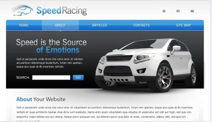 Racing - 75+ Free Responsive Automobile HTML Template 2019