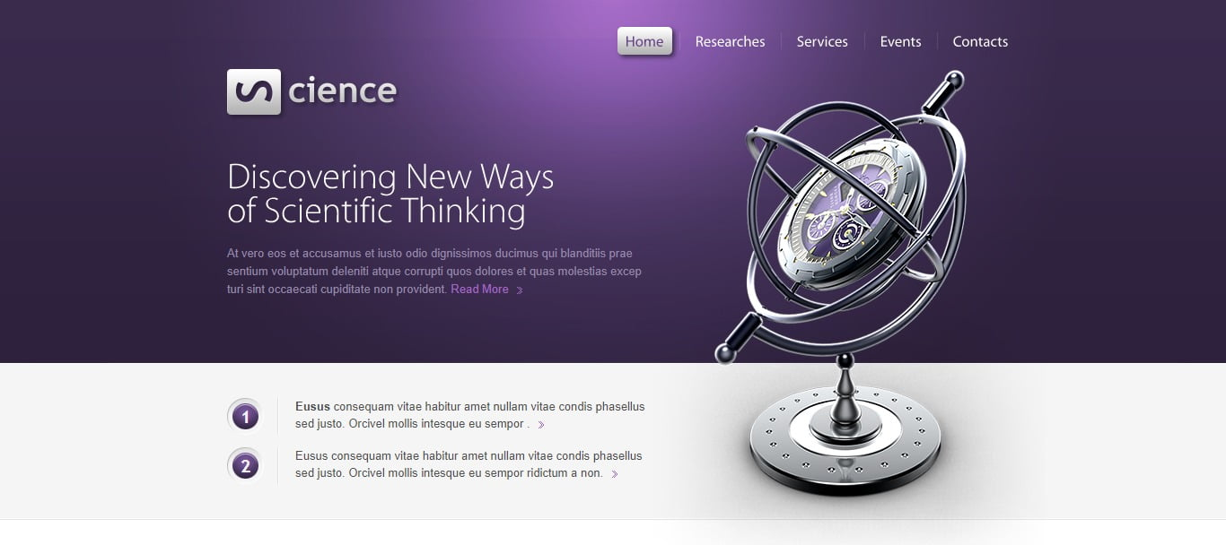 SCIENCE - 57+ Best Free Education HTML Website Templates