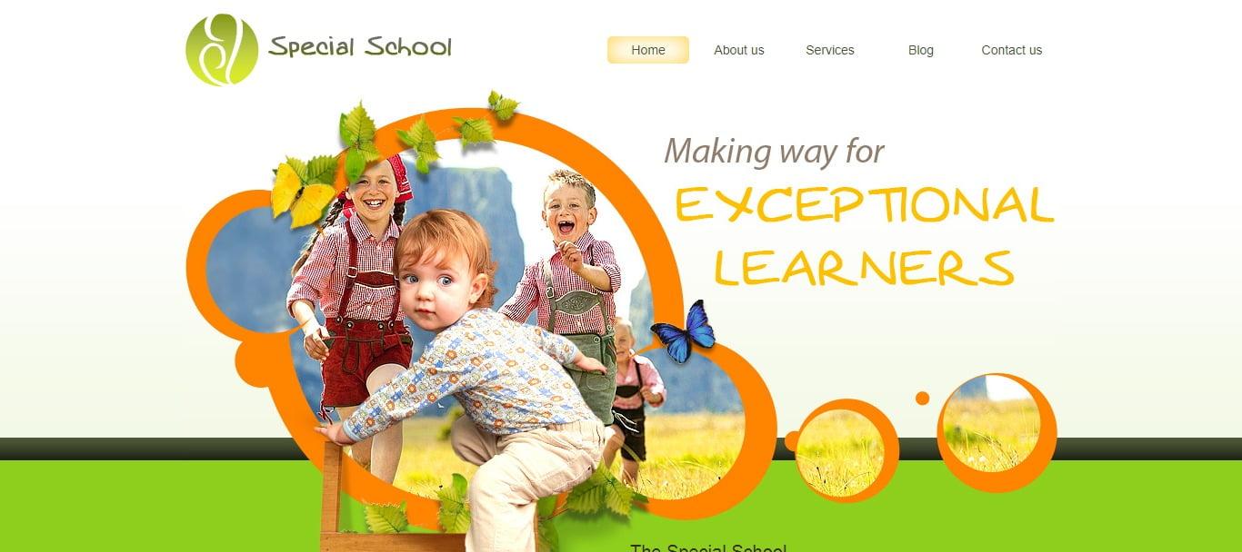 SPECIAL-SCHOOL - 57+ Best Free Education HTML Website Templates