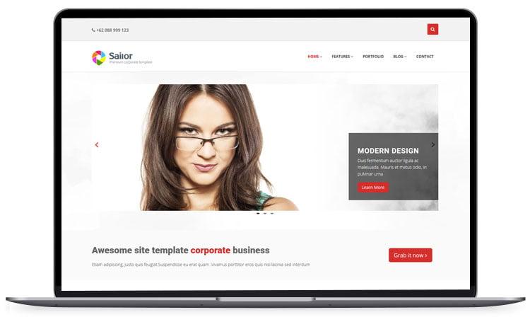 Sailor - 62+ Best Free HTML5 Website Templates 2019