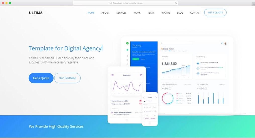 Screenshot_1 - 57+ Best Free Digital Agency HTML Website Templates [year]