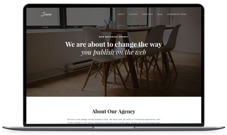 Snow - 62+ Best Free HTML5 Website Templates 2019