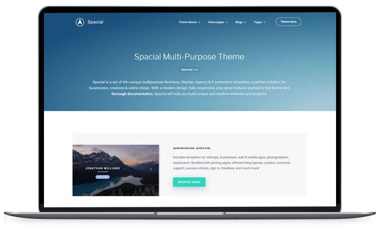 Spacial-Responsive-Website-Template - 62+ Best Free HTML5 Website Templates 2019