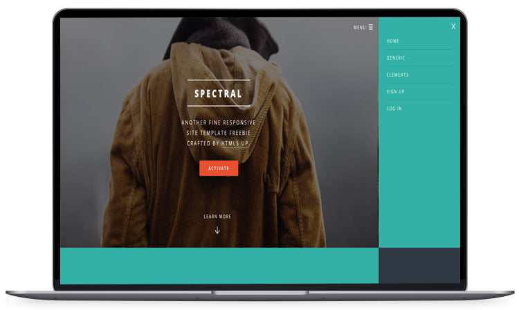 Spectral-Business-Website-Template - 62+ Best Free HTML5 Website Templates [year]