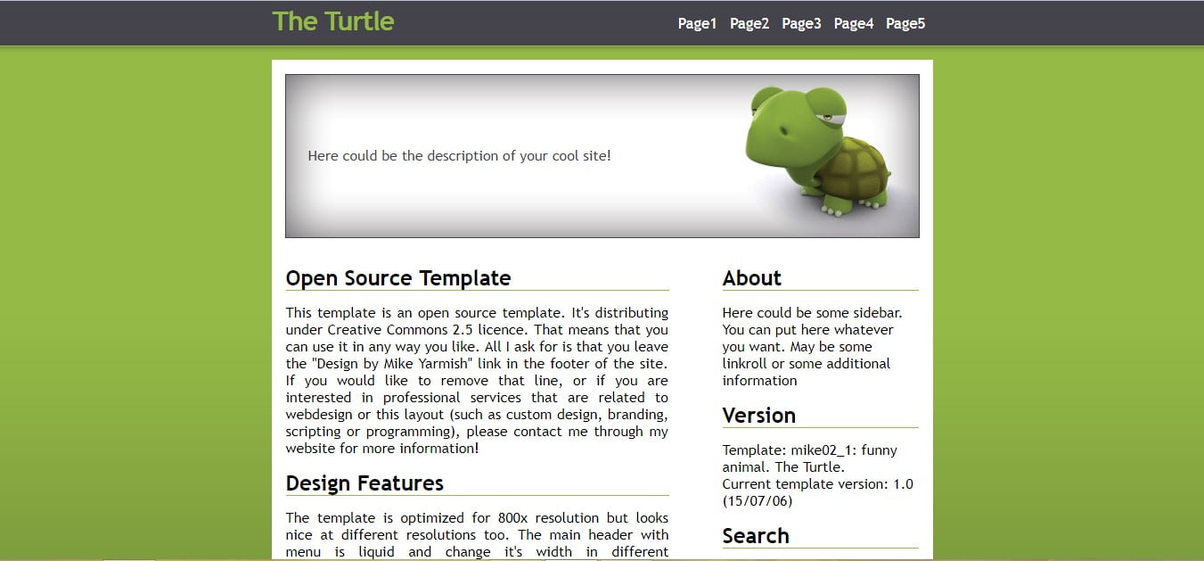 THE-TURTLE - 56+ Best Free Animals & Pets HTML Website Templates