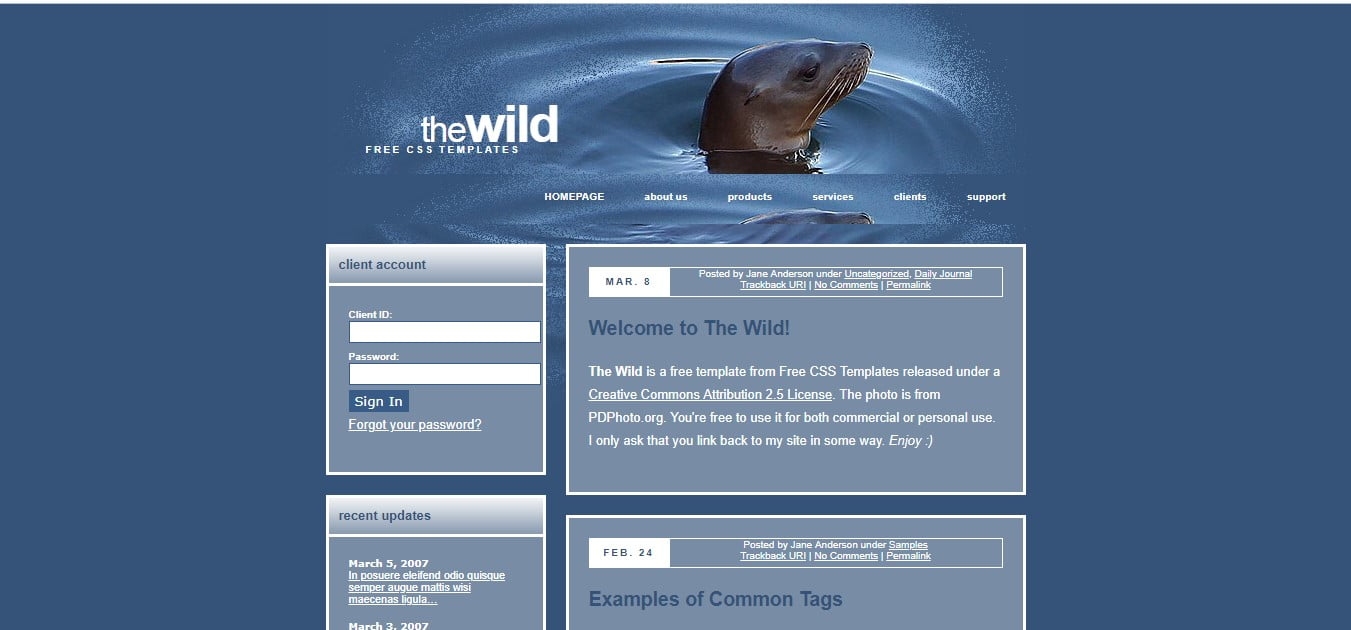 THE-WILD - 56+ Best Free Animals & Pets HTML Website Templates