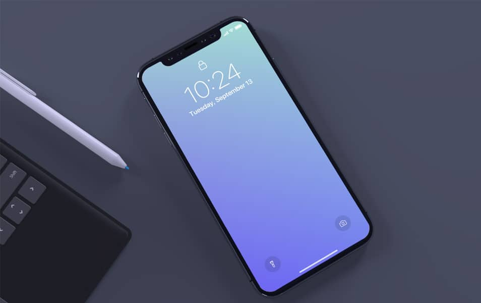 Top-view-of-iPhone-X-mockup - 100+ Best Free IPhone X Mockup Templates
