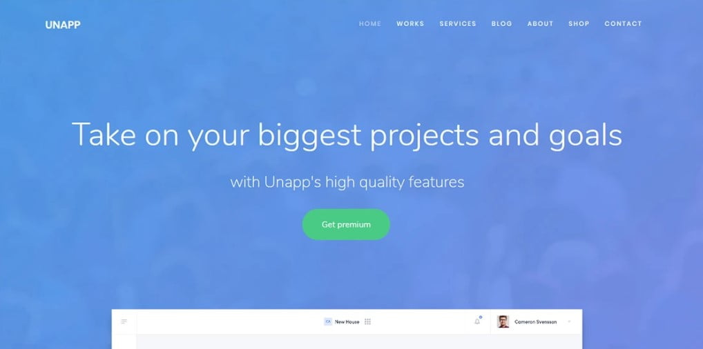 Unapp - 56+ Best Free App Landing Page HTML Website Templates [year]