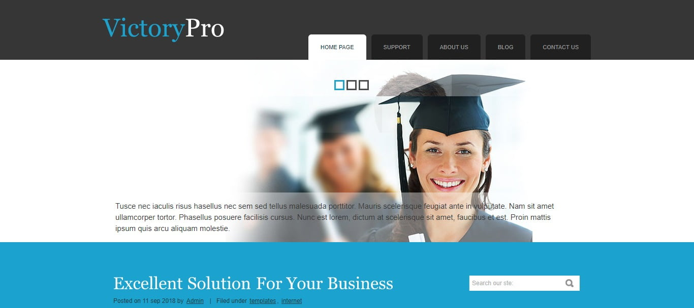 VICTORYPRO - 57+ Best Free Education HTML Website Templates