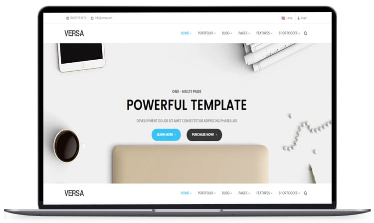 Versa-Multipurpose-Template - 62+ Best Free HTML5 Website Templates 2019
