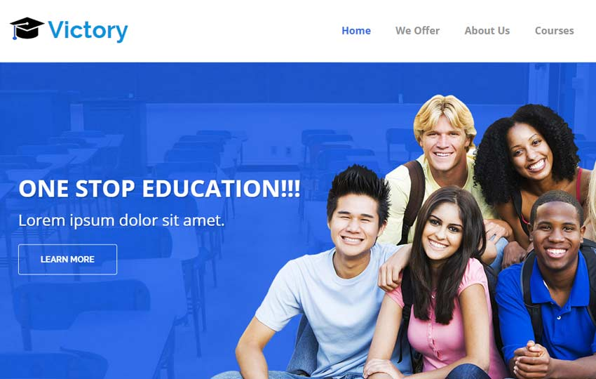 Victory-Educational-Institution-Free-HTML5-Bootstrap-Template - 57+ Best Free Education HTML Website Templates