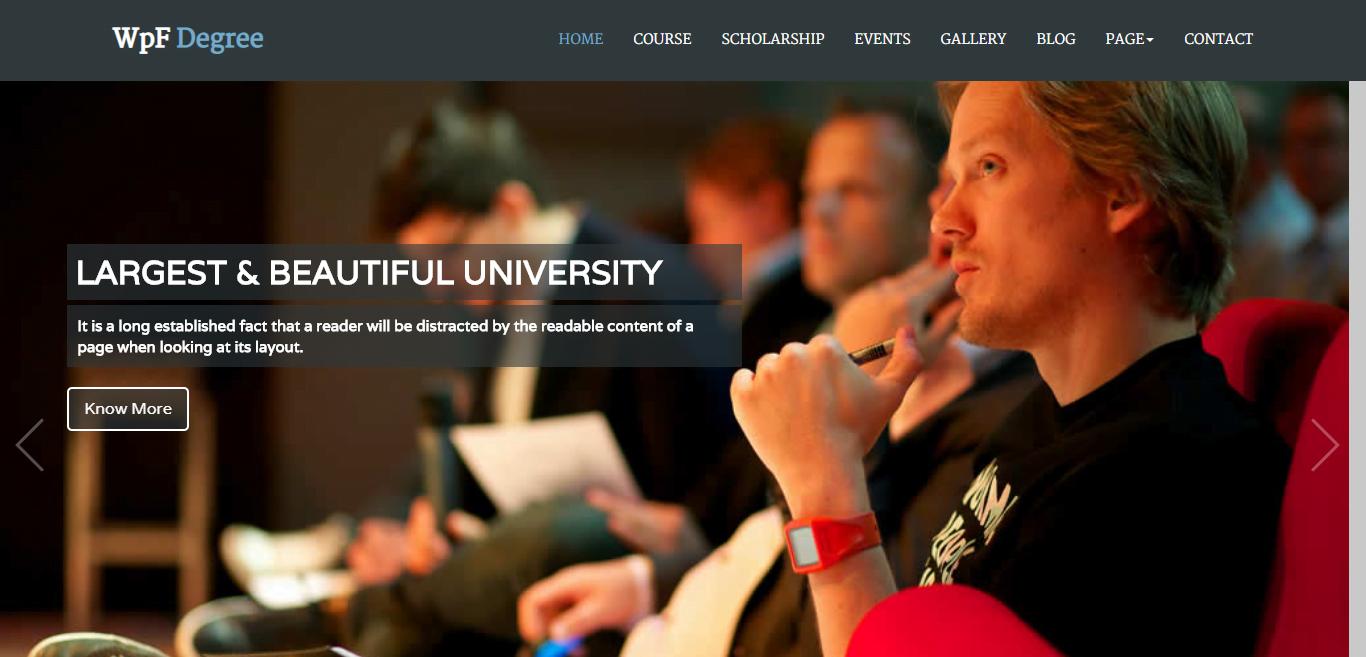 WPF-DEGREE - 57+ Best Free Education HTML Website Templates