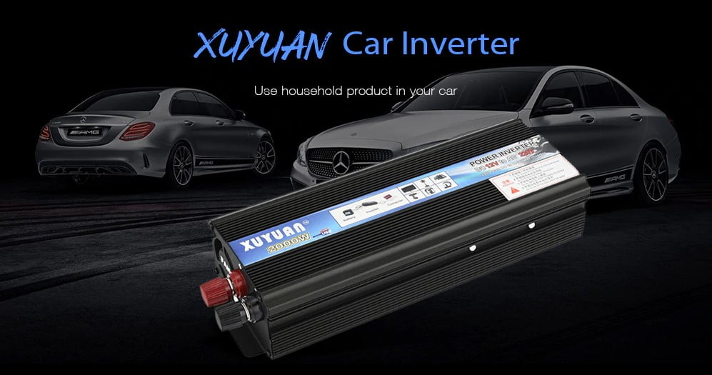 XUYUAN-2000W-Car-Power-Inverter-Black- - Top 25+ Best Power Inverters for Your Car [year]