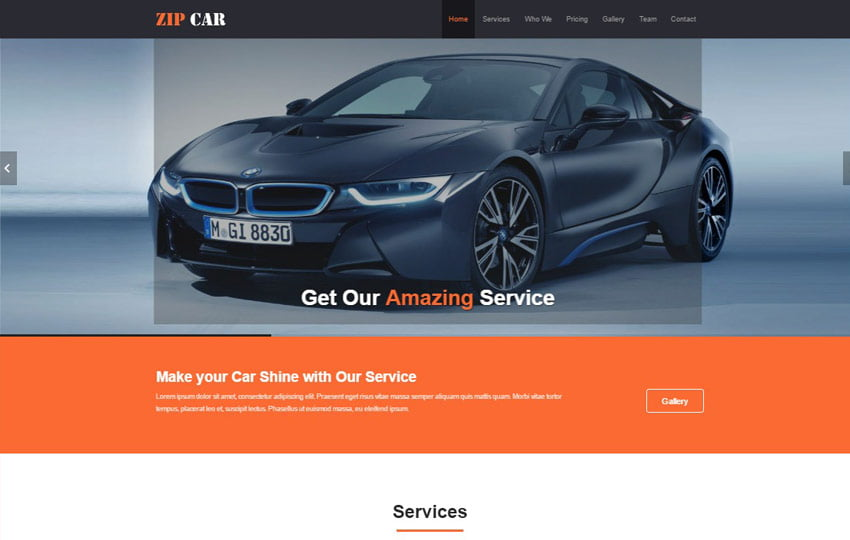 Zip-Car-Wash-HTML5-Website-Template - 75+ Free Responsive Automobile HTML Template 2019