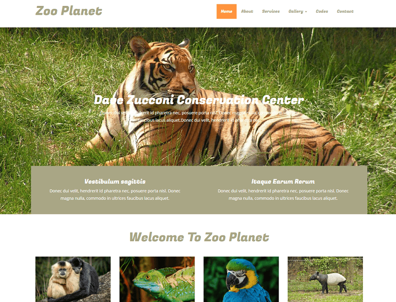Zoo-Planet-1 - 56+ Best Free Animals & Pets HTML Website Templates