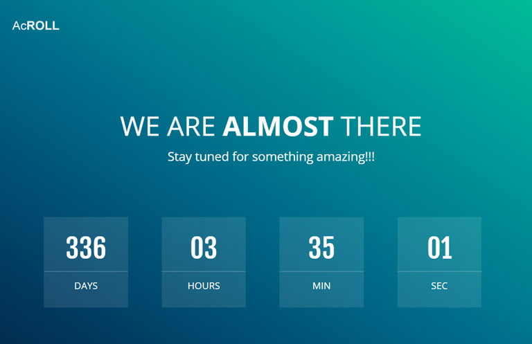 acroll-coming-soon-free-bootstrap-4-website-template-1 - 58+ Free Under Construction HTML Responsive Templates [year]
