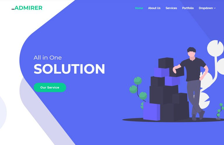 admirer-business-bootstrap-template - 57+ Best Free Digital Agency HTML Website Templates [year]
