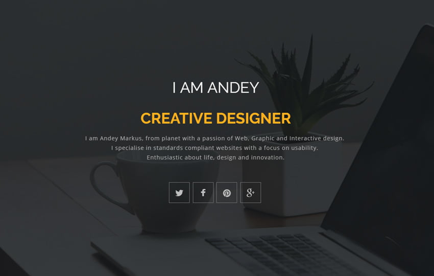 andey-responsive-bootstrap-portfolio-web-template - 57+ Best Free Education HTML Website Templates
