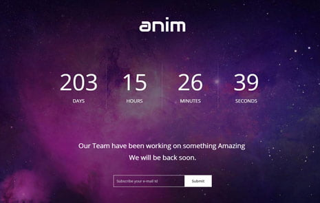 anim-coming-soon-responsive-template - 58+ Free Under Construction HTML Responsive Templates [year]