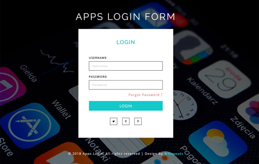 apps_login_form_Free07-02-2018_695767274 - 56+ Best Free App Landing Page HTML Website Templates [year]