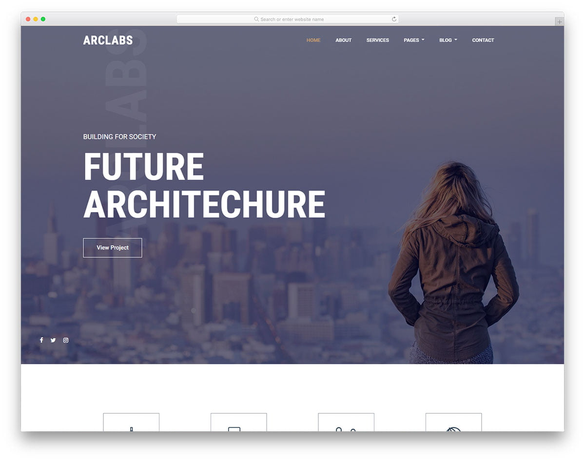 arclabs-free-template - 56+ Best Free Architecture HTML Website Templates [year]
