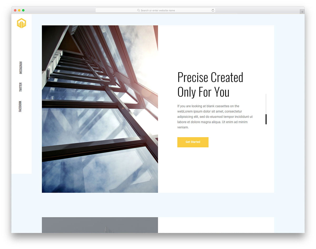 astral-free-template - 56+ Best Free Architecture HTML Website Templates [year]
